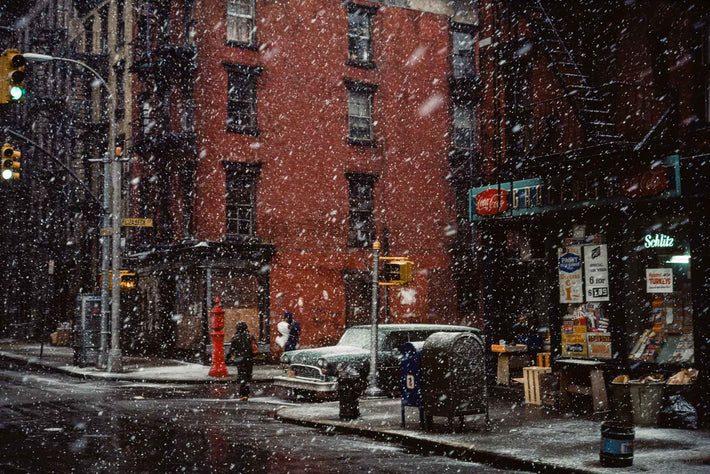 First Snow, Elizabeth Street, NYC