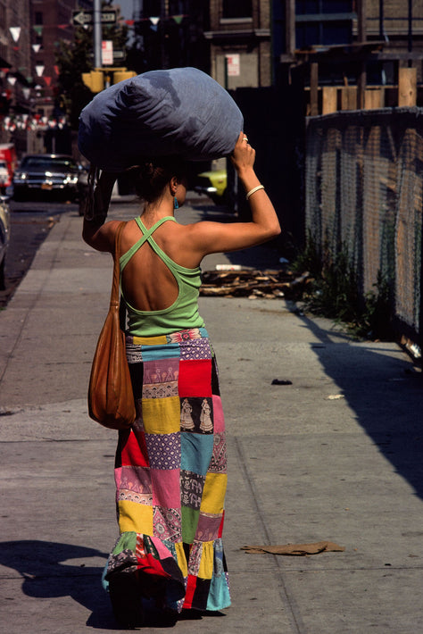 Woman with Laundry, NYC