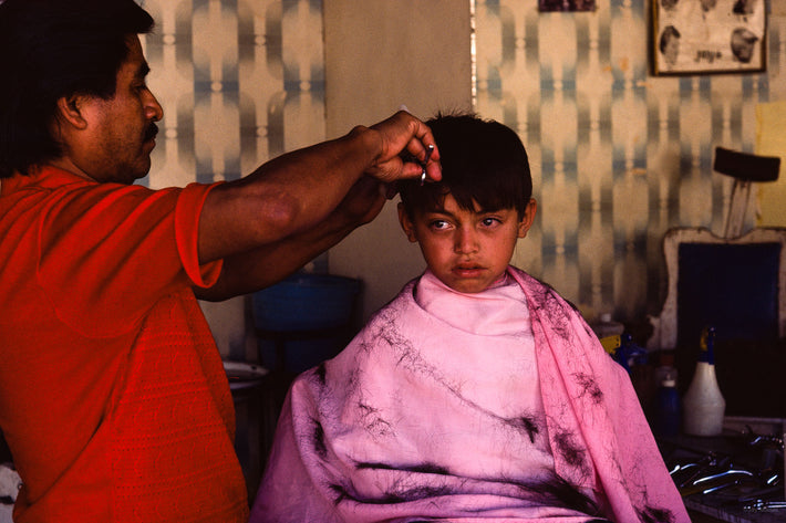 Child in Barbershop, Mexico