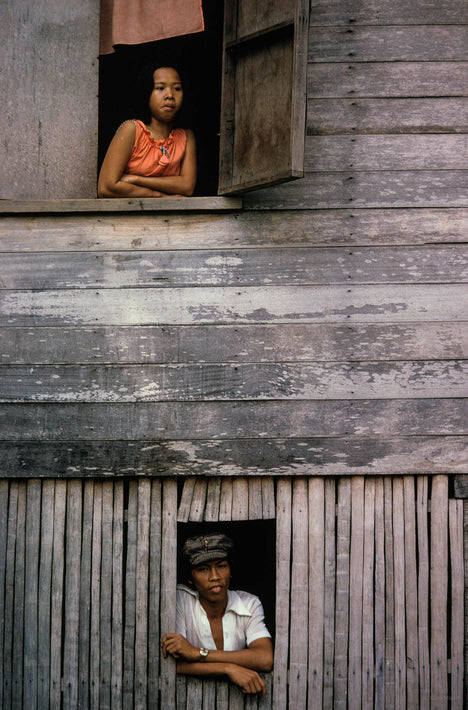 People in Wooden Windows, Philippines