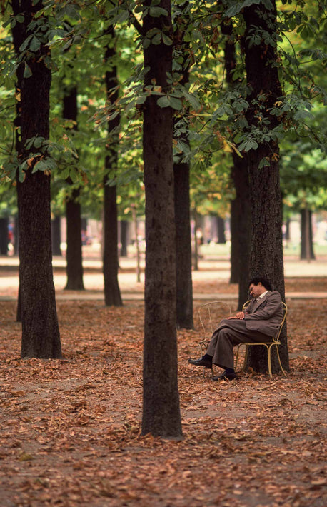 Sleeping Man with Trees