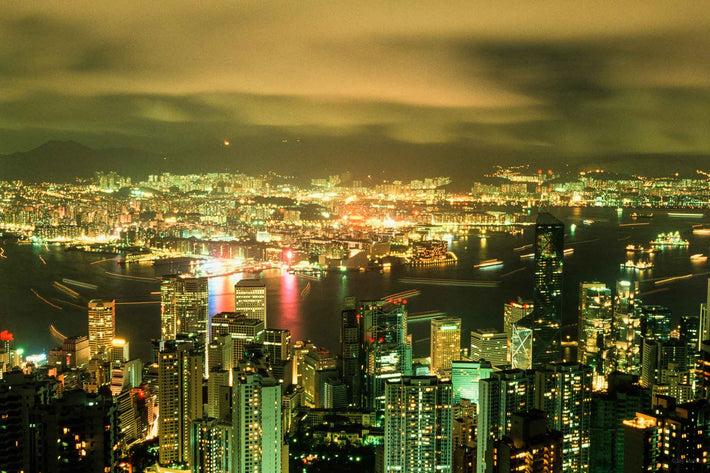 Hong Kong Harbor at Night