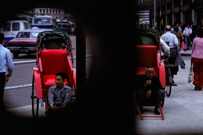 Two Men and Rickshaws, Hong Kong