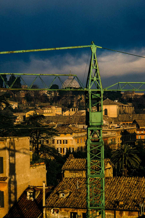 Green Crane in Suburbs, Rome