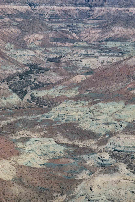 Aerial of Mountains with Sedimentary Colors