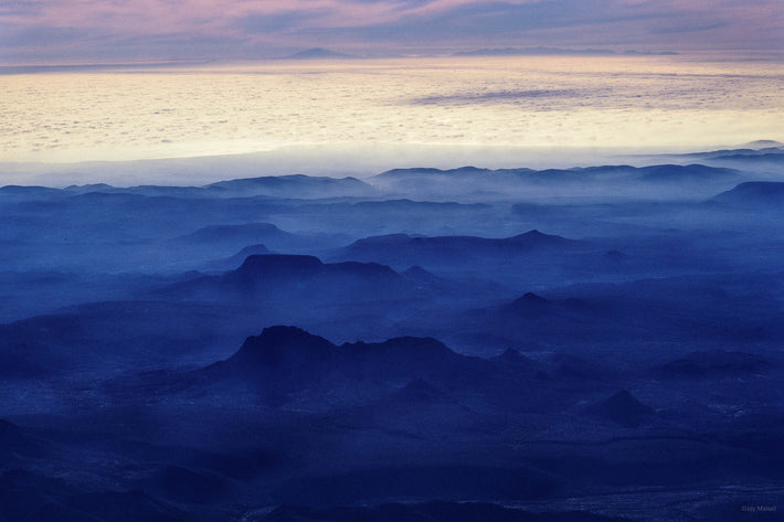 Aerial of Mountains and Clouds, Baja