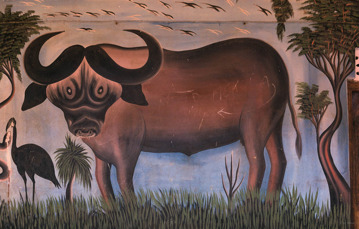 Painting of animals, Khartoum