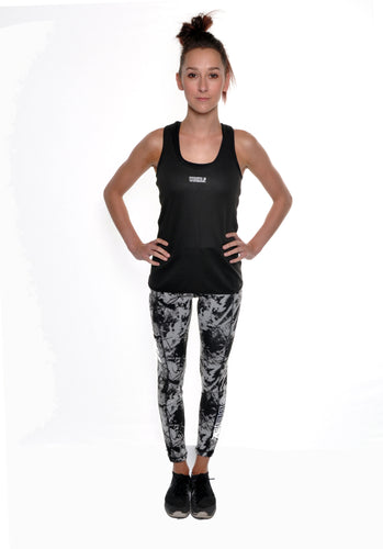 Reversible Work-out Vest Black/Print