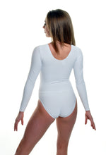 Long Sleeve White Leotard