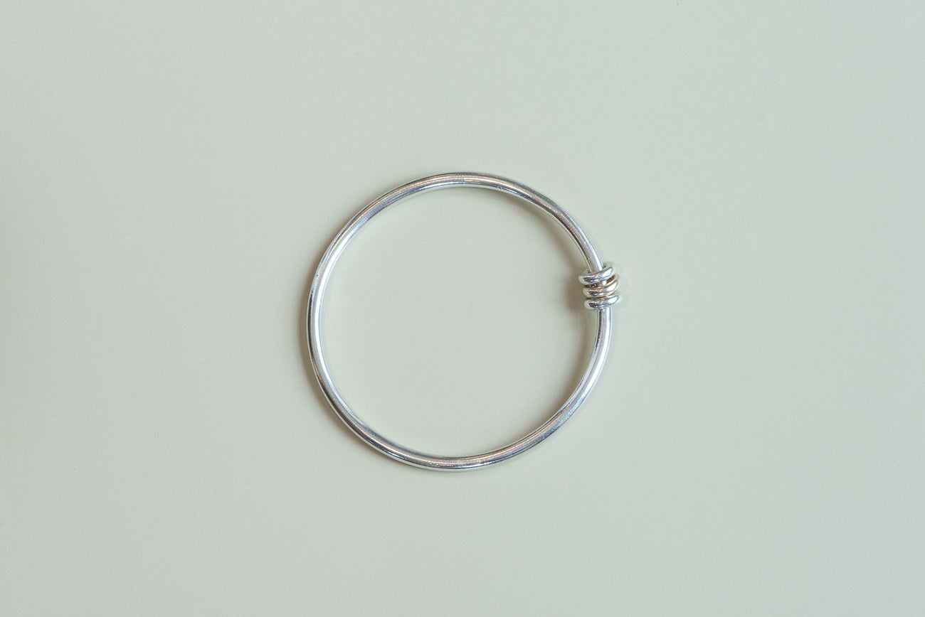 Sterling Silver and Gold Three Link Bangle