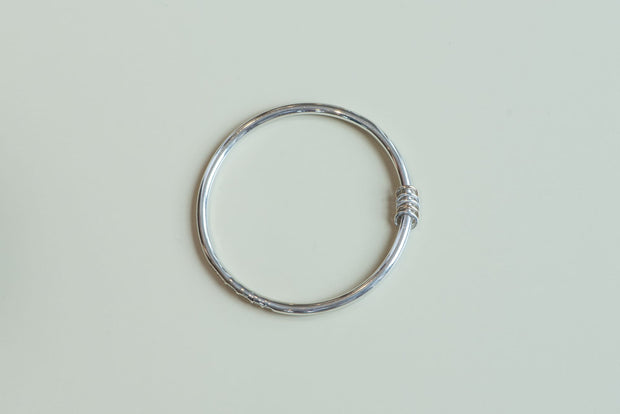 Sterling Silver and Gold Five Links Bangle