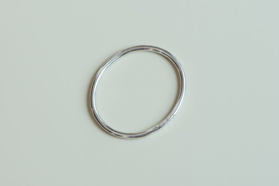 Sterling Silver Oval Heavy Bangle