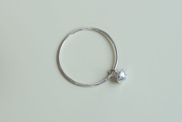 Sterling Silver Large Rwandan Bead Bangle