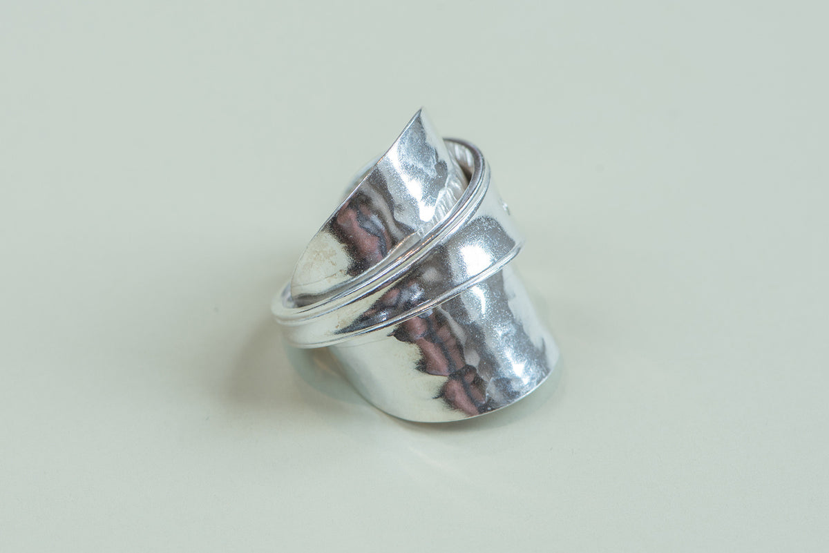 Sterling Silver Hallmarked Spoon Ring