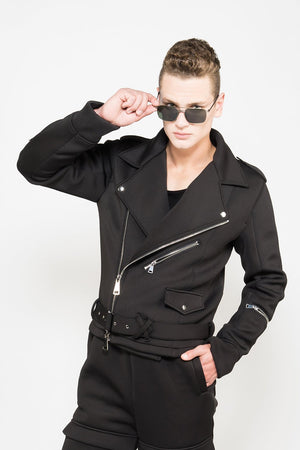 Neoprene Biker jacket by XIAN ZONE
