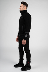 Goth Ninja Suede Jacket by XIAN ZONE - 8LACK OFFICIAL