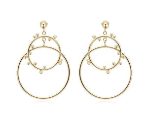 Studded Double Hoop by Sahira