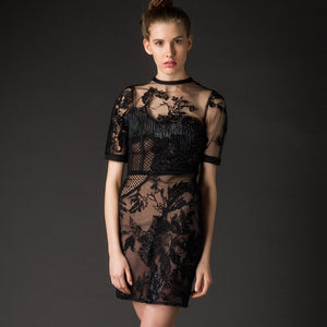 Sandra dress by Oscar Mendoza - 8LACK OFFICIAL