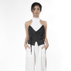 STRUCTURED STRIPED CORSET by Meche The Label - 8LACK OFFICIAL