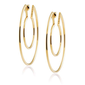 Faye Cutout Hoops by Sahira