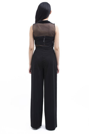 Les Essentiels High Slit Pants by Meche The Label - 8LACK OFFICIAL