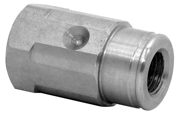 "Mosmatic nozzle socket for locking screw SW 3/4"" IN G1/4"" OUT 1/4""NPTF 29.017"