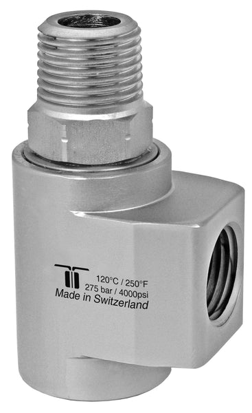 "Mosmatic rotary unions WDCL swivel with radial ball bearings G1 1/2"" NPTF G2 1/2""NPTM 43.363"