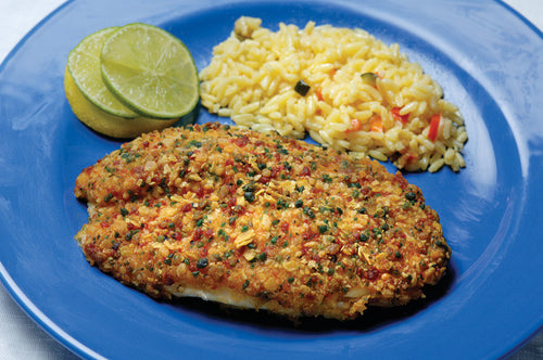 Tortilla Crusted Red Snapper
