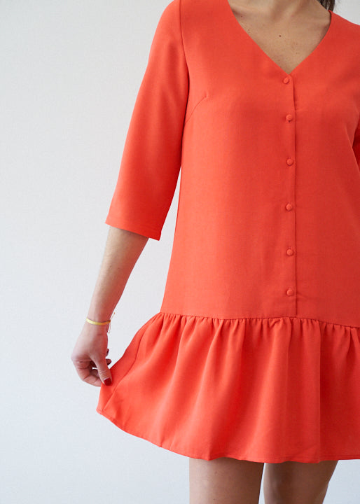 Robe Baby Doll Corail