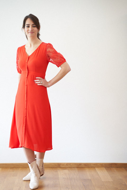 Robe Flamenco Rouge