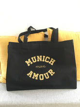 "Shopping Bag ""Munich mon Amour"" Noir"