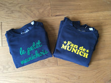 "Sweat Garcon ""Fan de Munich"" marine"
