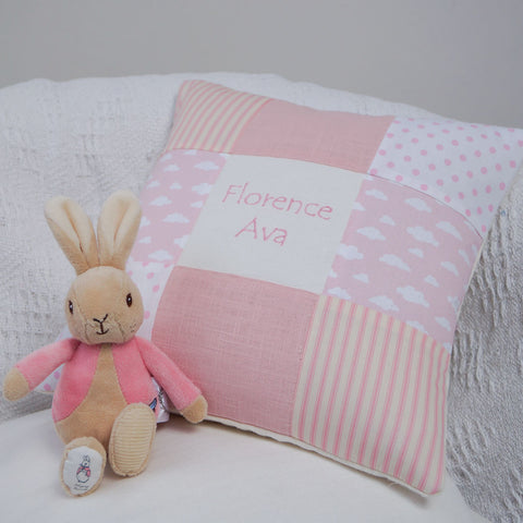 Nursery Name Cushion Pink