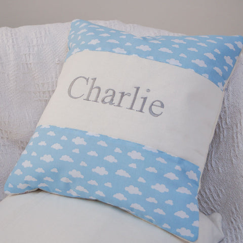 Cloud Name Cushion Blue
