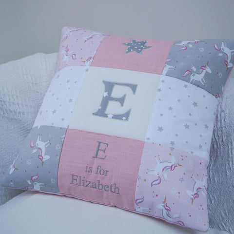 Unicorn Alphabet Cushion