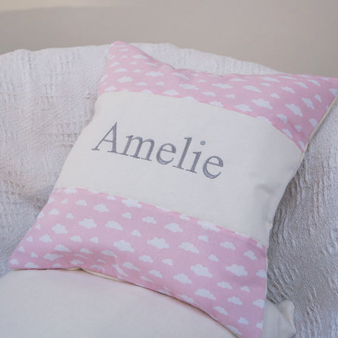 Cloud Name Cushion Pink