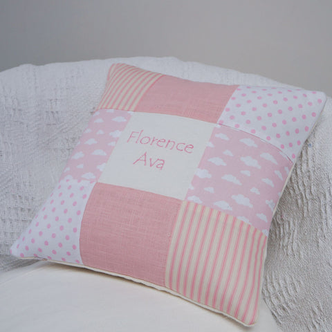 Nursery Name Cushion Blue