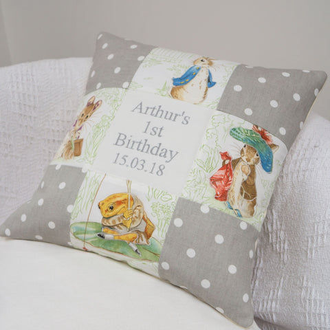 Beatrix Potter© Patchwork Birthday Cushion