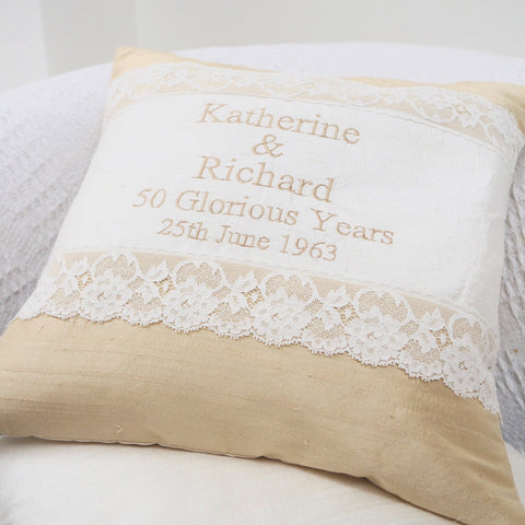 Gold Wedding Cushion