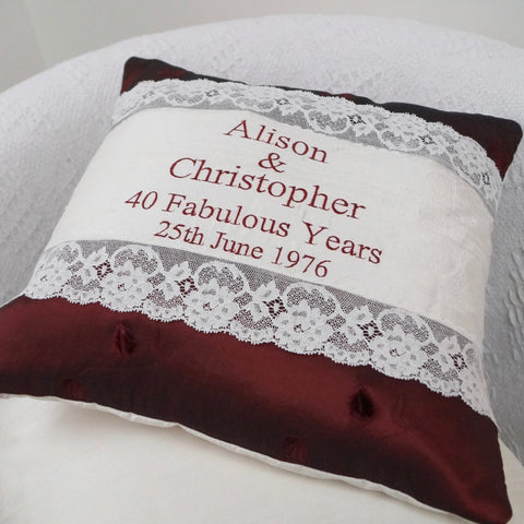 Ruby Wedding Cushion