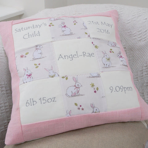Bunny Memory Cushion Pink