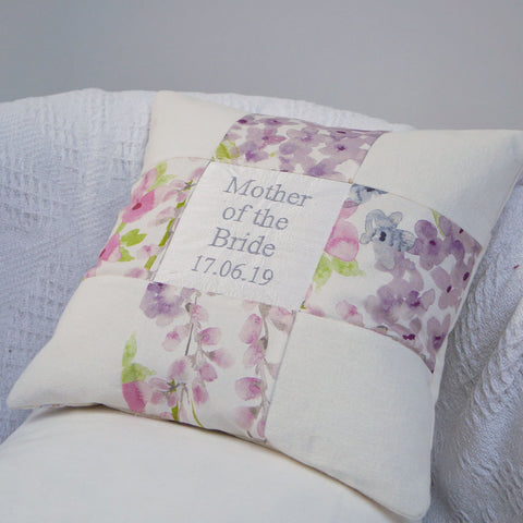 Mother of the Bride Floral Cushion