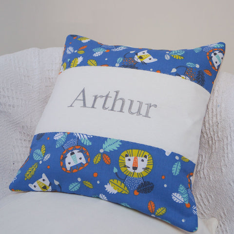 Big Cat Name Cushion