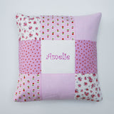 Sugar Plum Patchwork Name Cushion