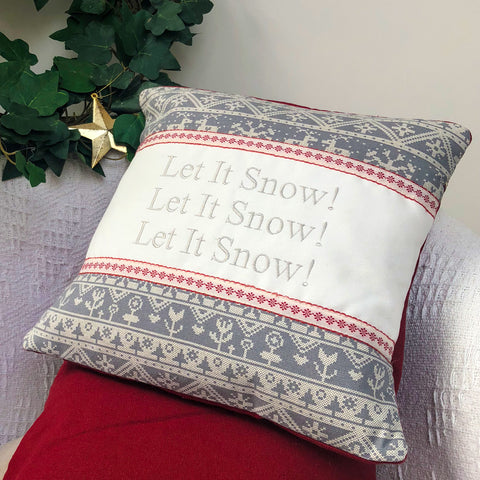 Scandi 'Let It Snow' Cushion