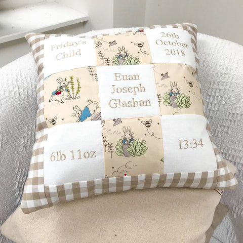 Peter Rabbit© Memory Cushion Natural