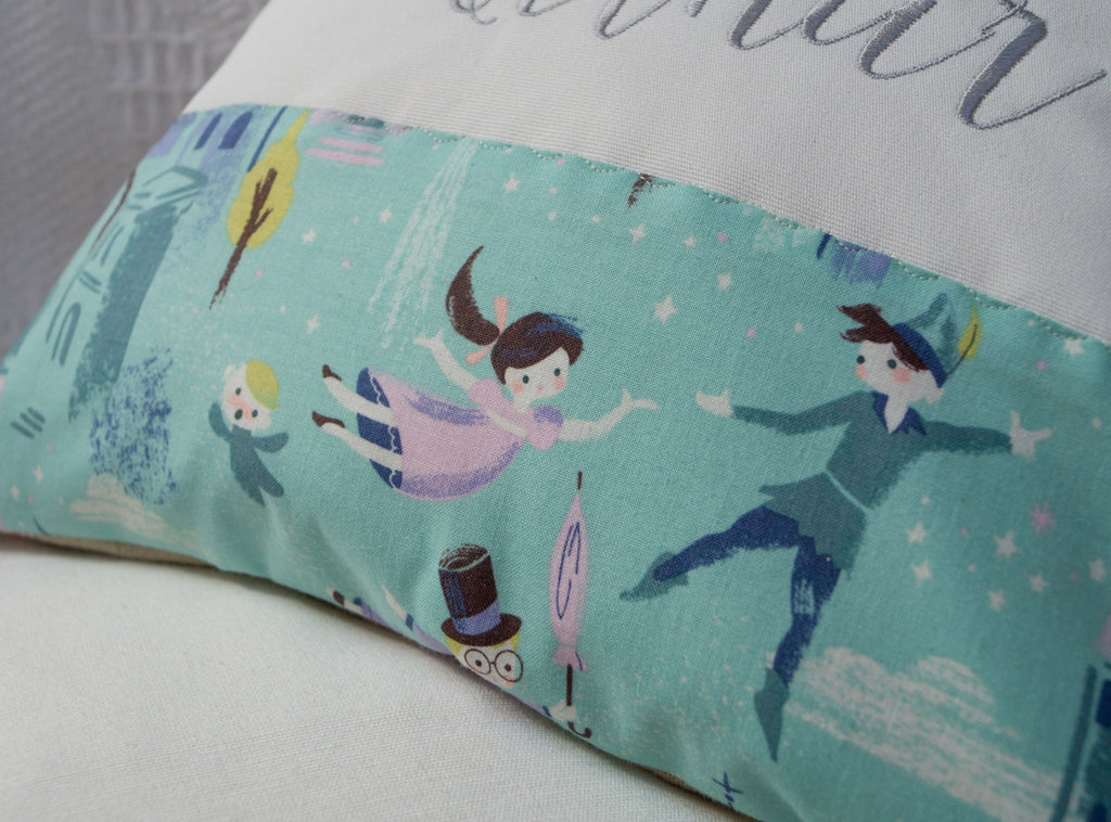 Peter Pan You Can Fly Cushion Tuppenny House Designs