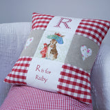 Beatrix Potter© Alphabet Cushion Pink