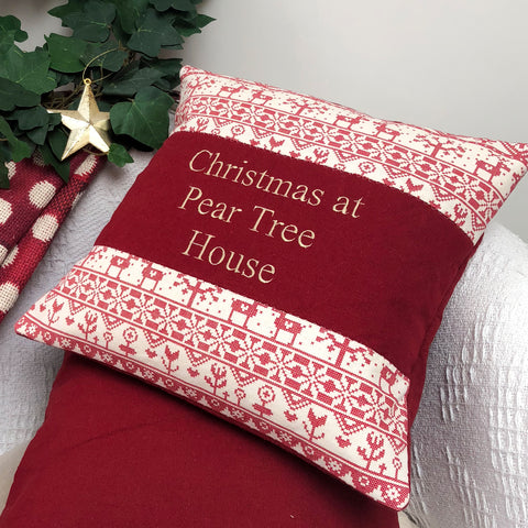 'Christmas At Our House' Cushion
