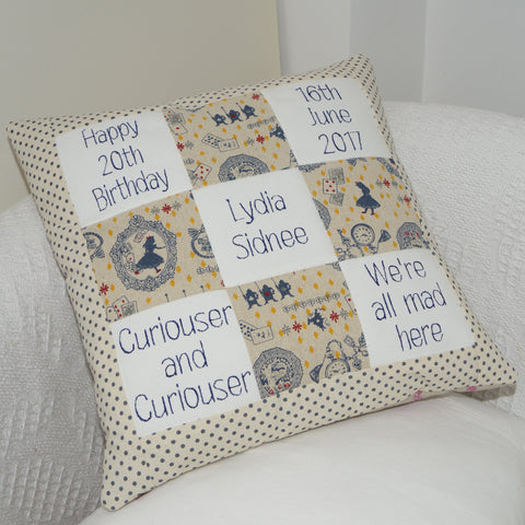 Alice In Wonderland Memory Cushion